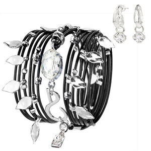 Black&Silver Ivy Bracelet SET - SEA Smadar Eliasaf