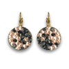 Nude-Grey Crystal Rocks Earrings