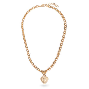 Short Chain Necklace with Heart Pendant - SEA Smadar Eliasaf