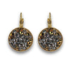 Golden and Clear Crystal Rocks Earrings
