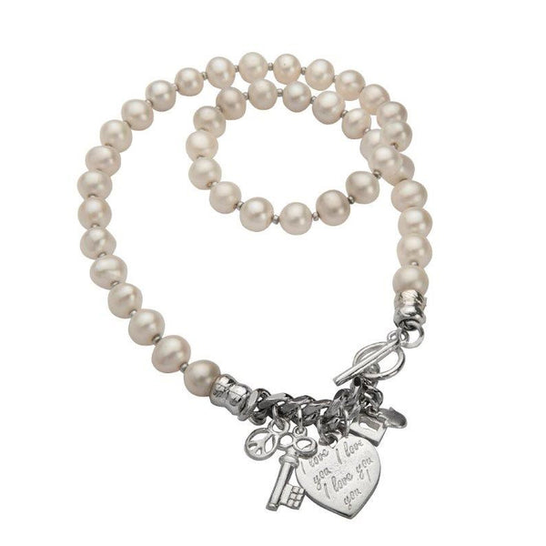 Charming Pearl Necklace - Silver