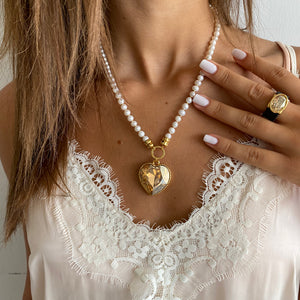 Splash Pearls Necklace -Golden - SEA Smadar Eliasaf