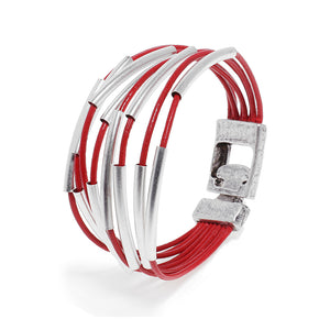 Red Moment Bracelet - Silver - SEA Smadar Eliasaf