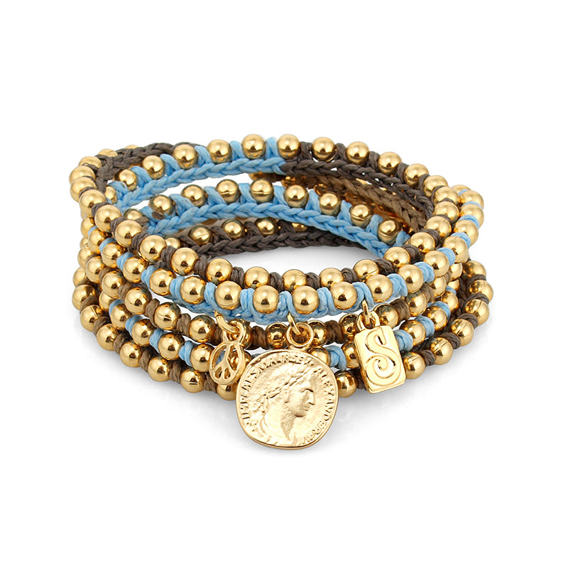 Blue\Brown Cleopatra Bracelet - SEA Smadar Eliasaf