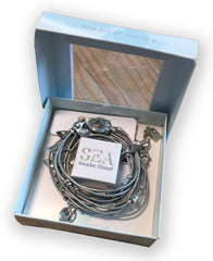 Dark Grey Ivy Bracelet - SET - SEA Smadar Eliasaf