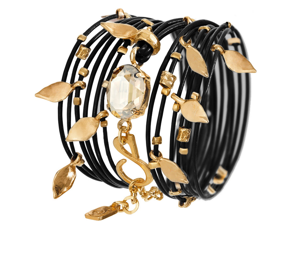 Black Golden Ivy Bracelet - SEA Smadar Eliasaf