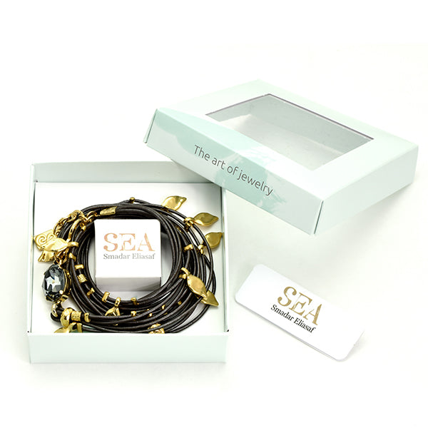 Metallic Dark Grey Ivy Bracelet - SEA Smadar Eliasaf