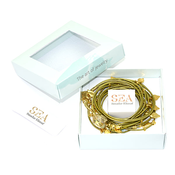 Metallic Green Ivy Bracelet - SEA Smadar Eliasaf