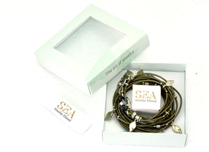 Green and sliver Ivy Bracelet - SEA Smadar Eliasaf