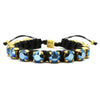 Metallic Blue Eye Candy Bracelet - Full