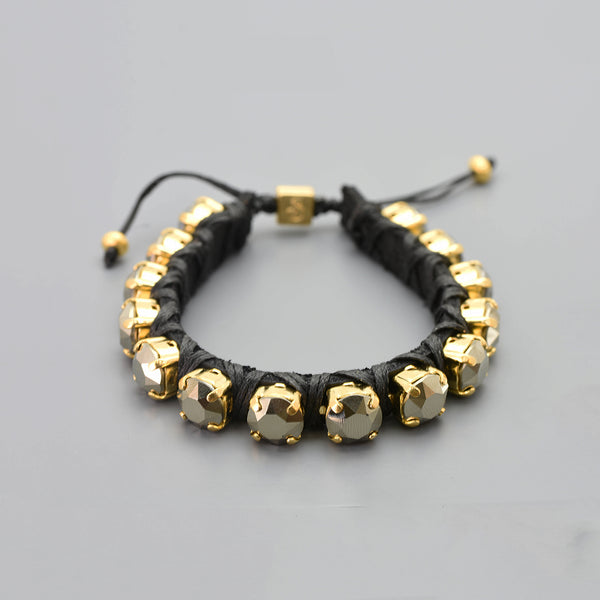 Metallic Khaki Eye Candy Bracelet - Full