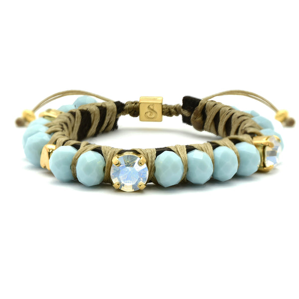 Golden Light Blue Big Crush Bracelet