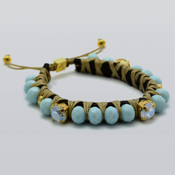 Golden Light Blue Big Crush Bracelet - SEA Smadar Eliasaf