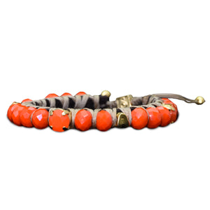 Matte Coral Big Crush Bracelet - SEA Smadar Eliasaf