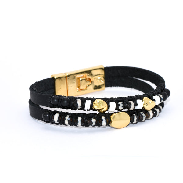Golden Striped Indie Bracelet
