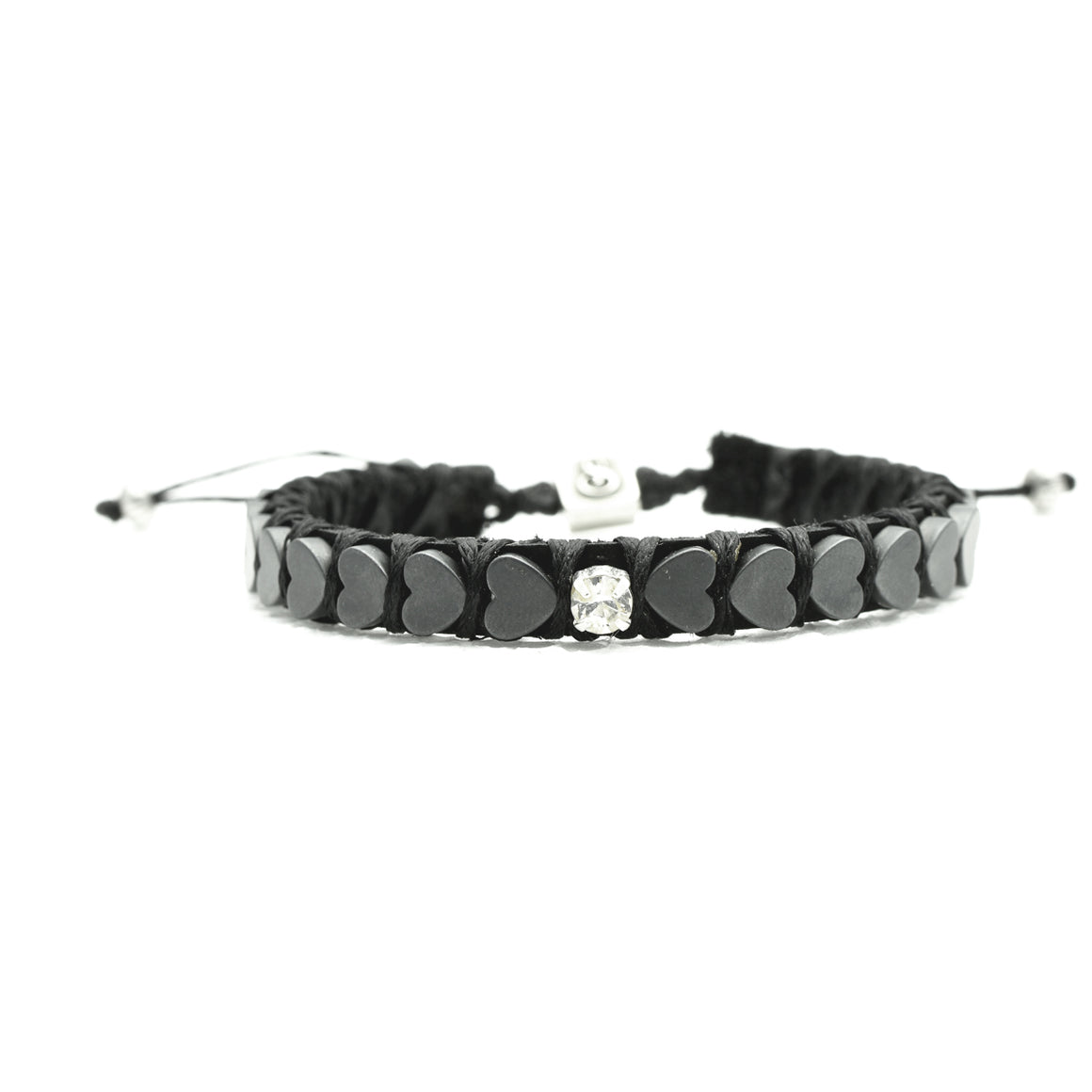 Single Inlay Heart Beats Bracelet - black - SEA Smadar Eliasaf