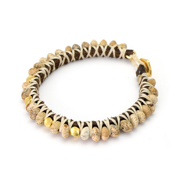 Golden Brown Tibetan Bracelet