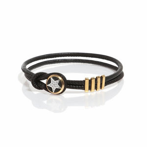 Double Leather Bracelet - Star - SEA Smadar Eliasaf