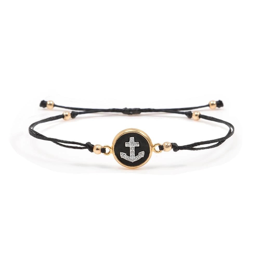Thread Golden Bracelet - Anchor - SEA Smadar Eliasaf