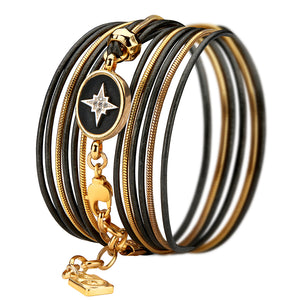 Shining Star Bracelet - Black - SEA Smadar Eliasaf
