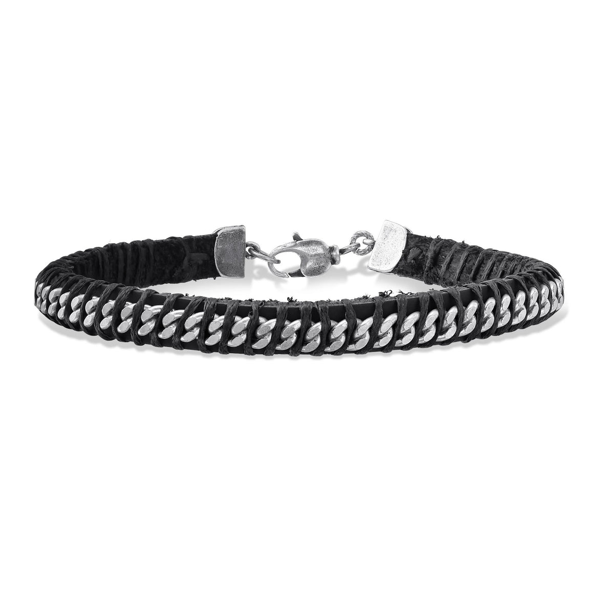 Leather and Chain Bracelet for Men - SEA Smadar Eliasaf
