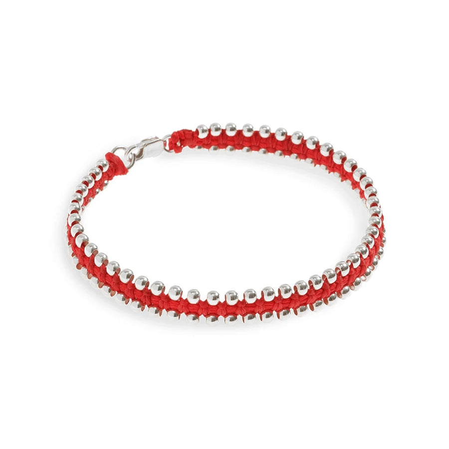 Copy of Silver Balls Bracelet - Red - SEA Smadar Eliasaf
