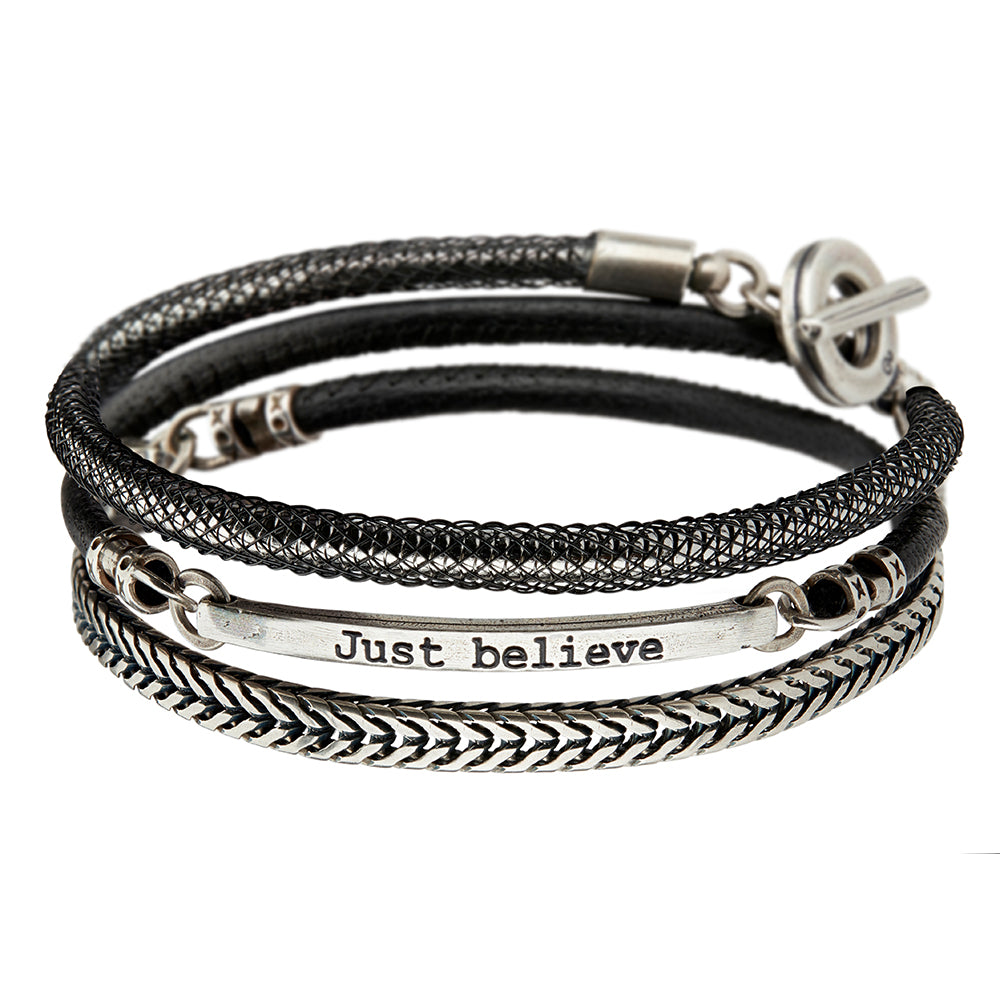 Men's JUST BELIEVE Bracelet - SEA Smadar Eliasaf