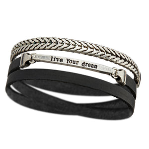 Men's LIVE YOUR DREAM Bracelet - SEA Smadar Eliasaf