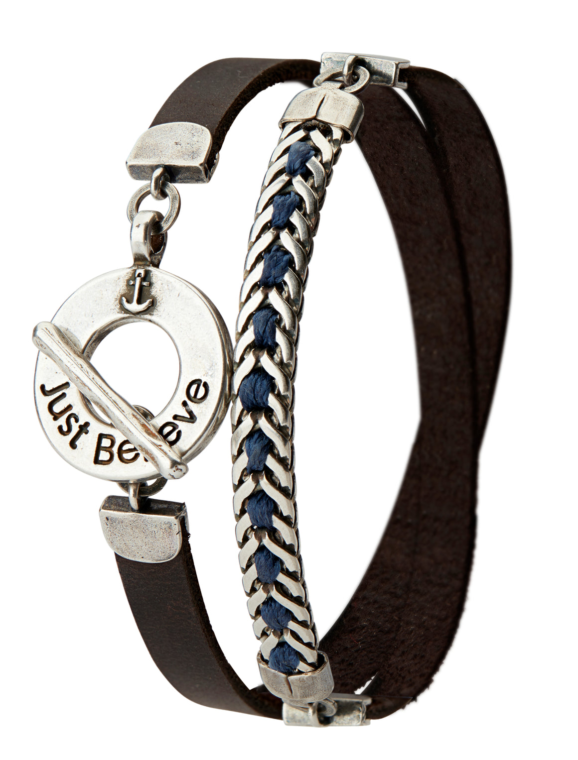 Men's JUST BELIEVE Bracelet - Blue - SEA Smadar Eliasaf