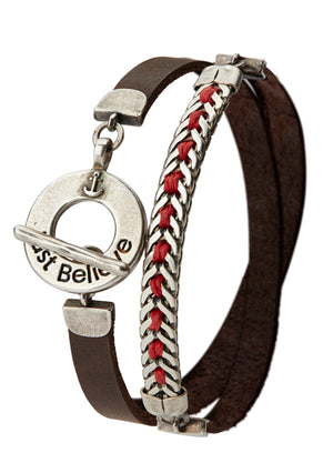 Men's JUST BELIEVE Bracelet - Red - SEA Smadar Eliasaf