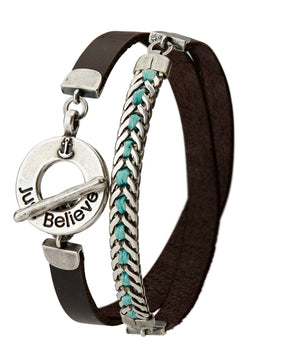 Men's JUST BELIEVE Bracelet - Turquoise - SEA Smadar Eliasaf