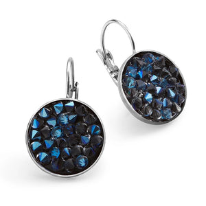 Blue Crystal Rocks Earrings - SEA Smadar Eliasaf