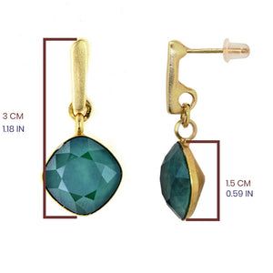 Emerald Green Hux Earrings - SEA Smadar Eliasaf