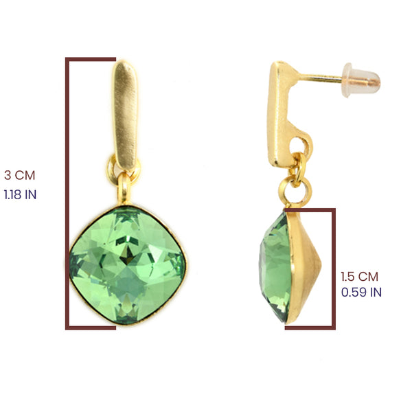 Green Hux Earrings - SEA Smadar Eliasaf