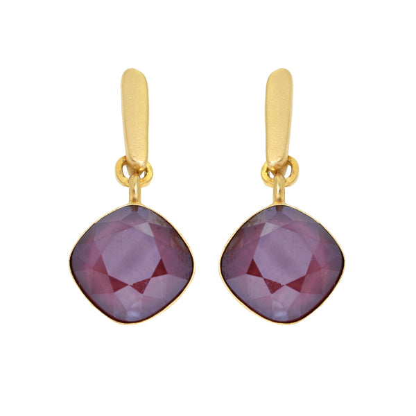 Bordeaux Hux Earrings - SEA Smadar Eliasaf