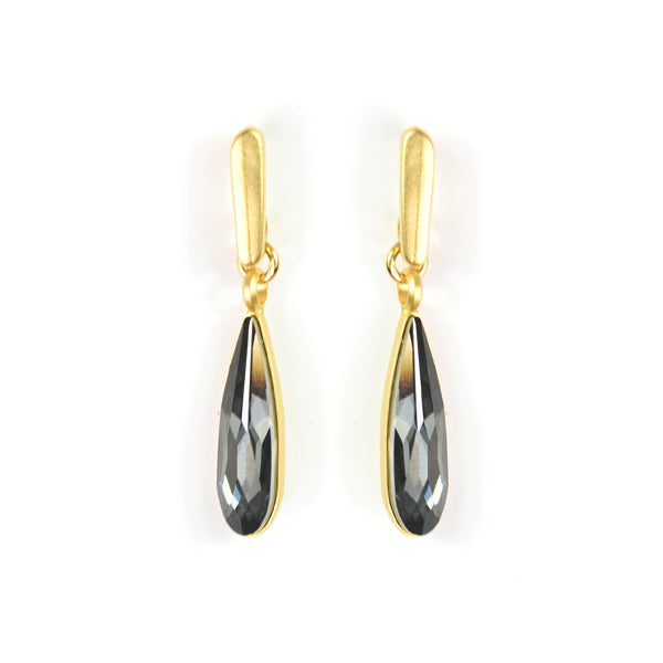 Drop Silver Night Earrings - SEA Smadar Eliasaf