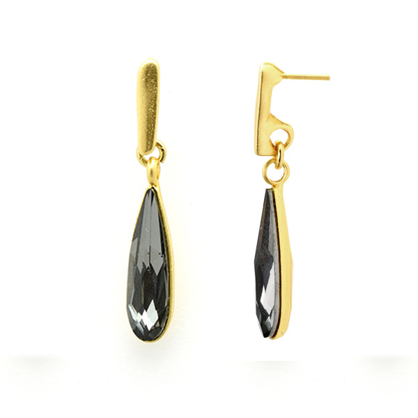 Long Drop Silver Night Earrings - SEA Smadar Eliasaf