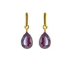 Bordeaux Tear Drop Earrings
