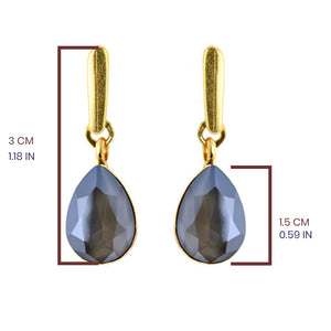 Dark Grey Tear Drop Earrings - SEA Smadar Eliasaf
