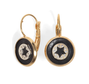 Star and Crystal Earrings - SEA Smadar Eliasaf