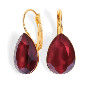 Date Night Earrings - Ruby Crystal Drop - SEA Smadar Eliasaf
