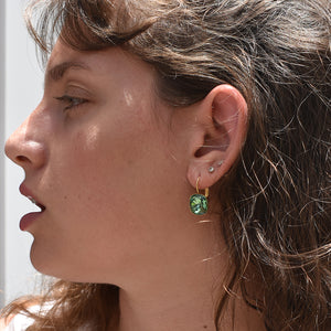 Date Night Earrings - Green Swarovski - SEA Smadar Eliasaf
