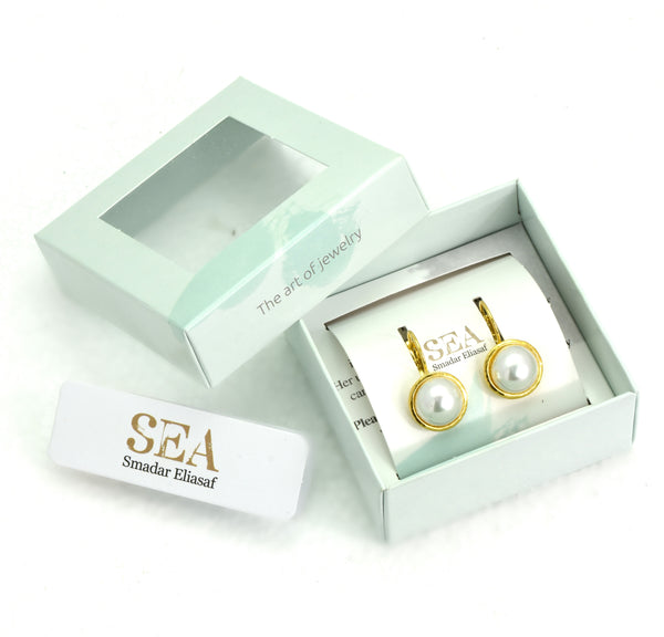 Golden Pearl Earrings - SEA Smadar Eliasaf