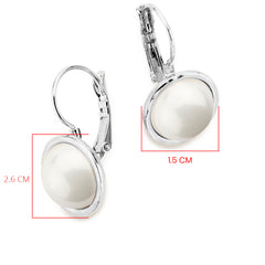 Silver plated Pearl Earrings - SEA Smadar Eliasaf