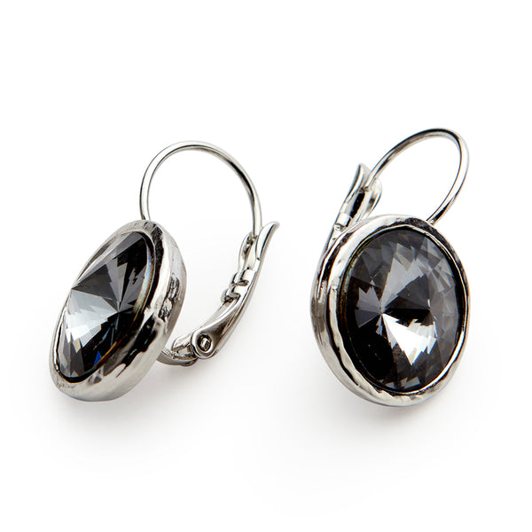 """Silver Night"" Earrings - SEA Smadar Eliasaf"