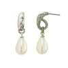 Pearl Drop Earrings Silver Plated