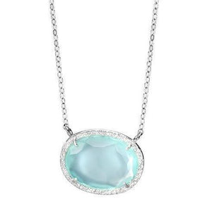Silver Necklace with a Blue Pendant - SEA Smadar Eliasaf