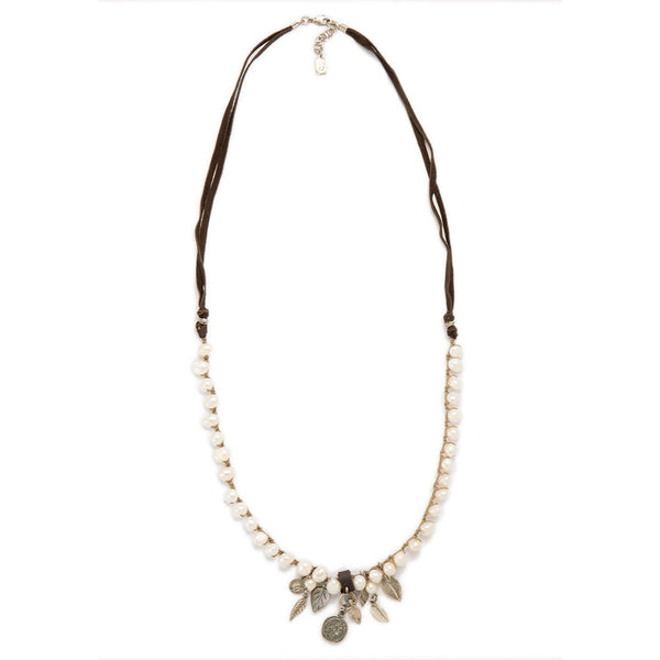 Multistrand Leather and Pearls