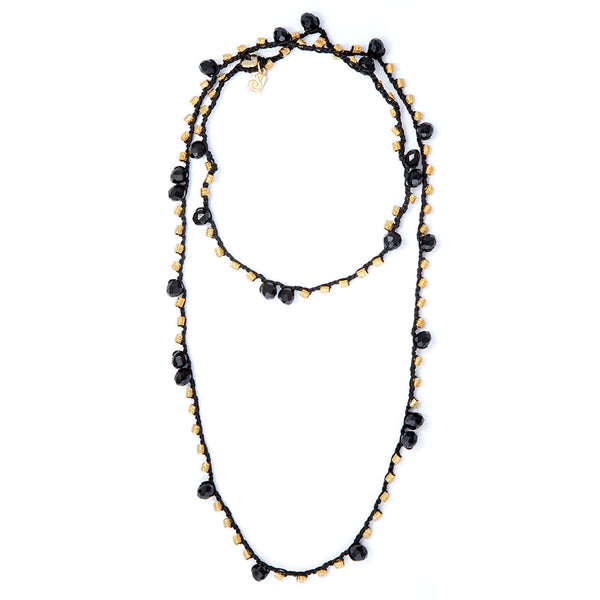 Black & Blue Knitted Necklace