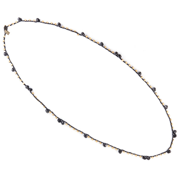 Black & Blue Knitted Necklace - SEA Smadar Eliasaf